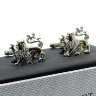 Cufflinks Heraldic Lion Novelty Cuff links by Onyx Art New in Box CK890